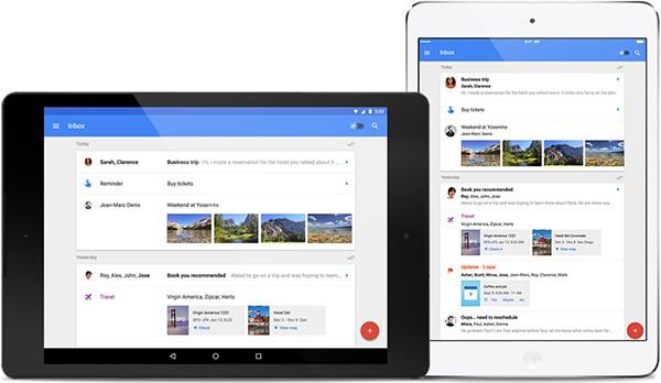 Inbox su tablet Android e iPad