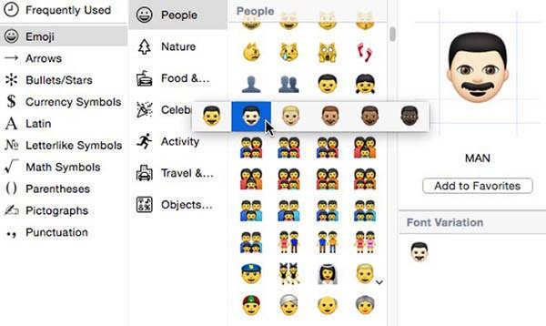 Emoji multietniche