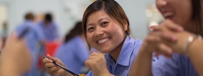 Lavoratrice asiatica