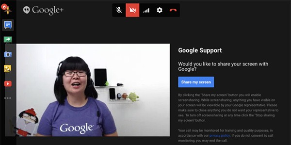 Il supporto tramite Hangouts che Google sta sperimentando per gli utenti della piattaforma Play Store