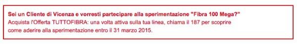 Telecom Italia sperimenta la fibra a 100 mega