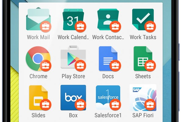 Android for Work: le applicazioni