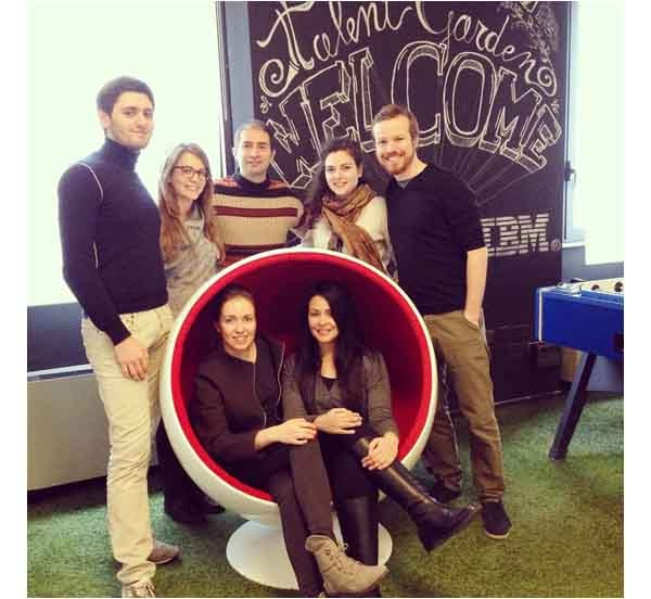 Il team di TAG a Barcellona. Il primo a sinistra è Davide Dattoli, CEO del network di coworking di startup digitali nato a Brescia.