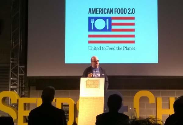 """Il tema del padiglione americano ad Expo Milano 2015 è """"food 2.0"""". L'america vuole levarsi il clichè di nazione che non sa mangiare sano e non si interessa globalmente della nutrizione sostenibile."""