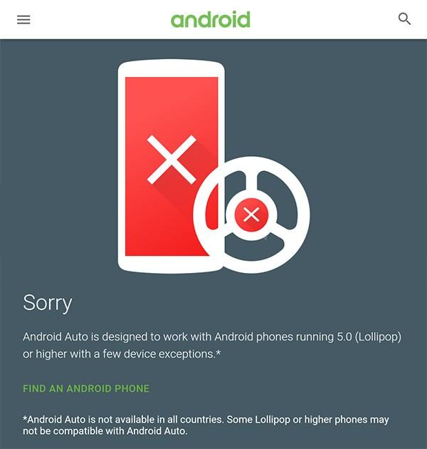 Il sito per controllare la compatibilità dei dispositivi con la piattaforma Android Auto