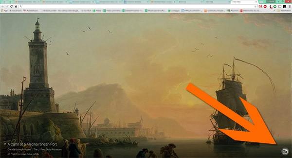 """Il pulsante per la visualizzazione dei """"siti preferiti"""" nell'angolo inferiore destro dello schermo"""