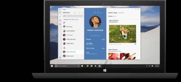 Windows 10: app Contatti
