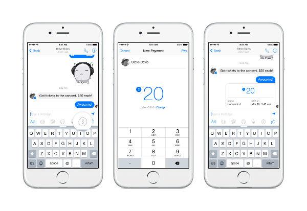 Facebook, trasferimenti di denaro via Messenger