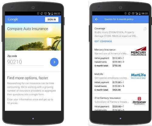 Google Auto Compare