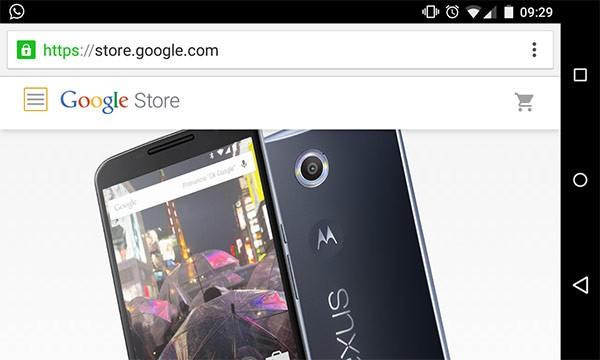 La versione mobile del nuovo Google Store online