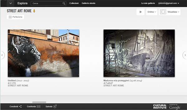 Le opere della Street Art Rome su Google Cultural Institute