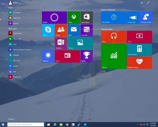 Windows 10 Technical Preview Build 10031