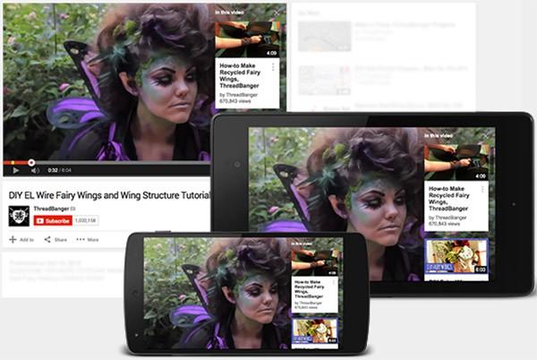 Le schede che sostituiscono le annotazioni di YouTube, visibili anche sulle applicazioni mobile