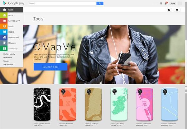 Alcune delle cover personalizzate per dispositivi Nexus che è possibile creare con lo strumento Google Workshop