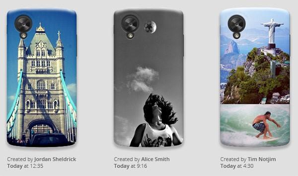 Cover personalizzate per Nexus 5 create con lo strumento Moments di Google Workshop