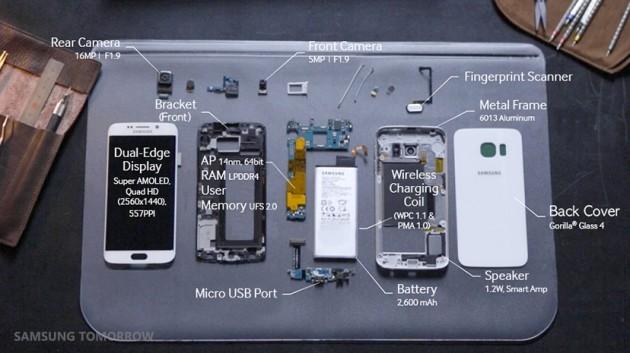 Samsung Galaxy S6 edge - componenti