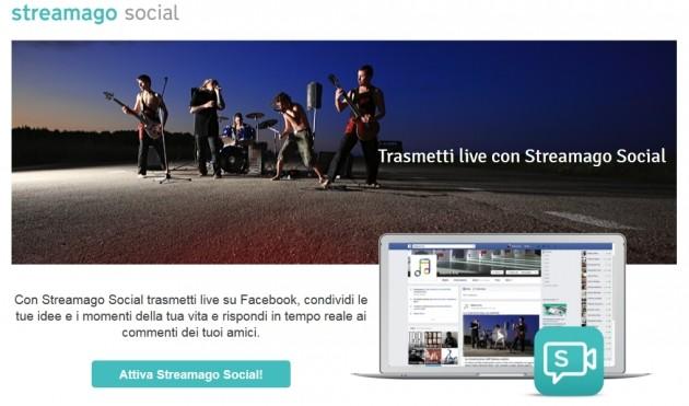 Tiscali Streamago Social