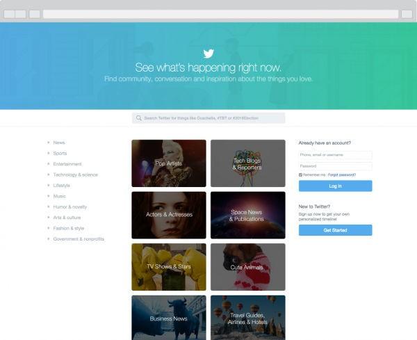 La nuova home page di Twitter
