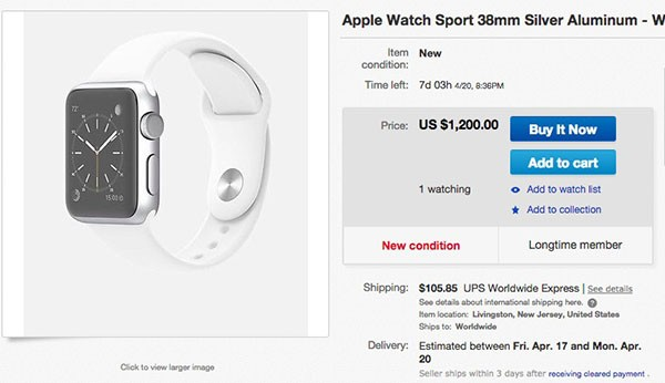 Apple Watch su eBay