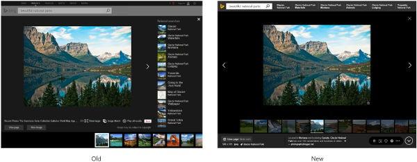 Bing Immagini: prima e dopo