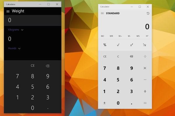 Nuova app calcolatrice in Windows 10