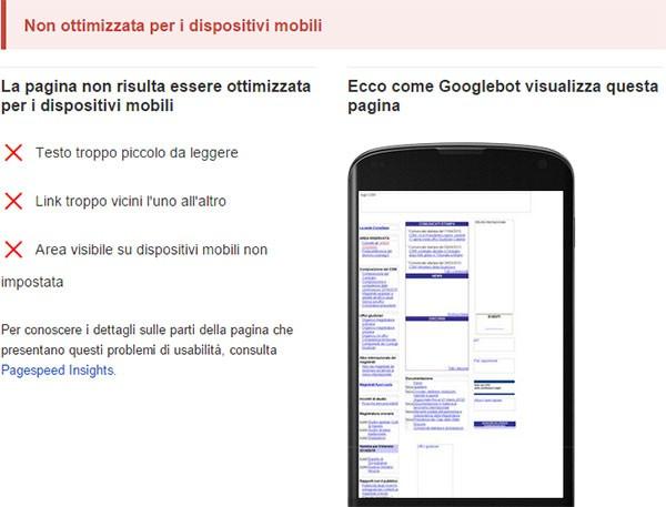 Test di compatibilità con dispositivi mobili: www.csm.it