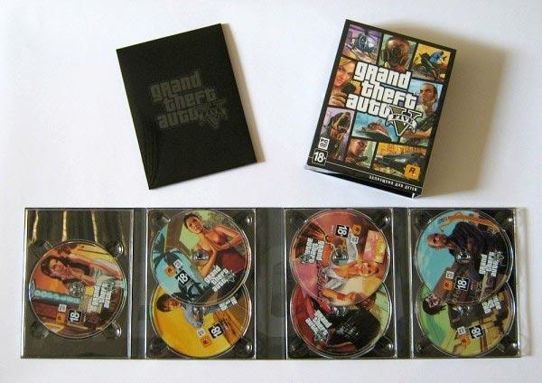 La versione PC di GTA 5, con ben sette dischi, immagine non ufficiale