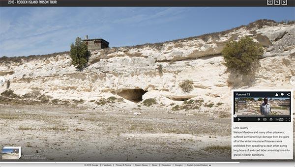 La roccia da cui si ricava la calce, lavorata dai prigionieri di Robben Island