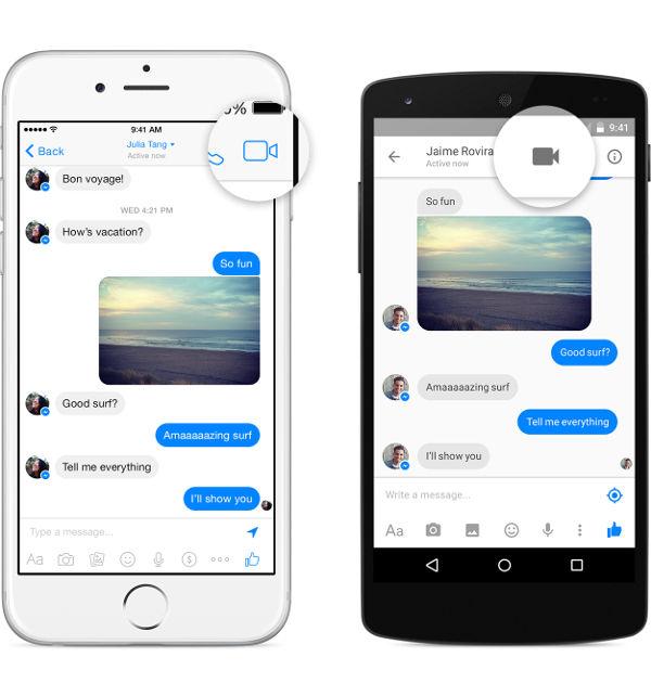 Videochiamate su Facebook Messenger