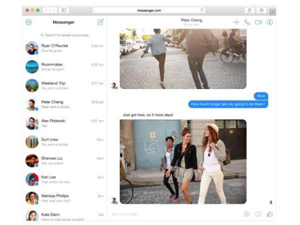 Messenger per il web