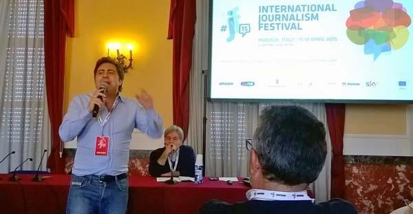 Fulvio Sarzana e Bruno Saetta al Festival di Perugia al panel sul diritto d'autore.