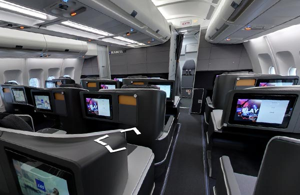Le nuove cabine degli aerei SAS su Google Street View