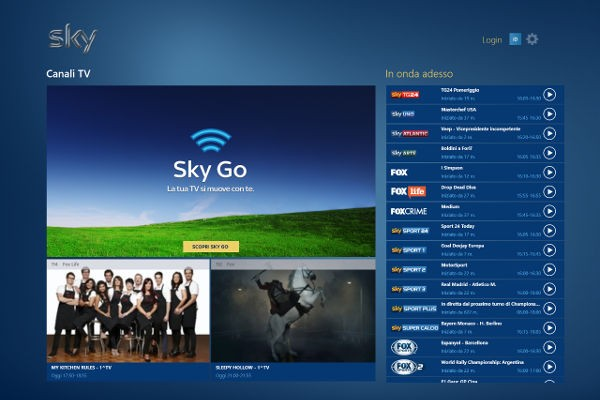 Sky Go per Windows 8.1