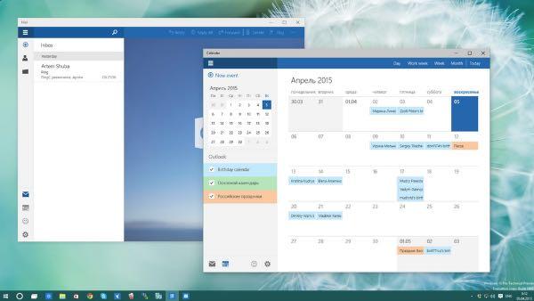 Windows 10: le nuove app Mail e Calendario