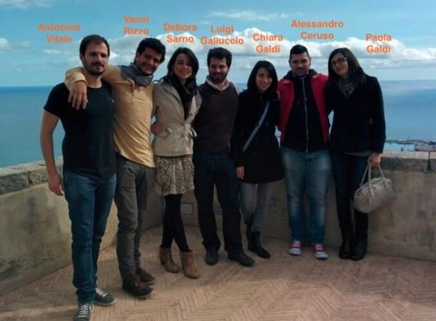 Il team che ha sviluppato l'app Smartour Salerno.