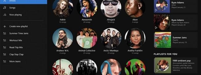 Windows 10: app Musica