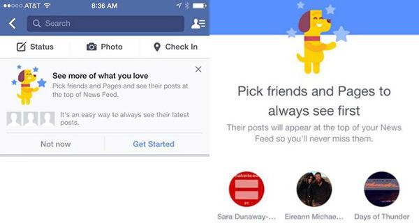 Facebook, personalizzazione del News Feed