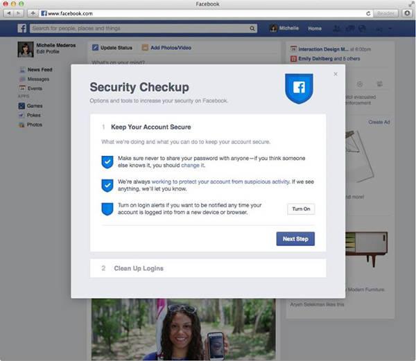 Facebook Security Checku