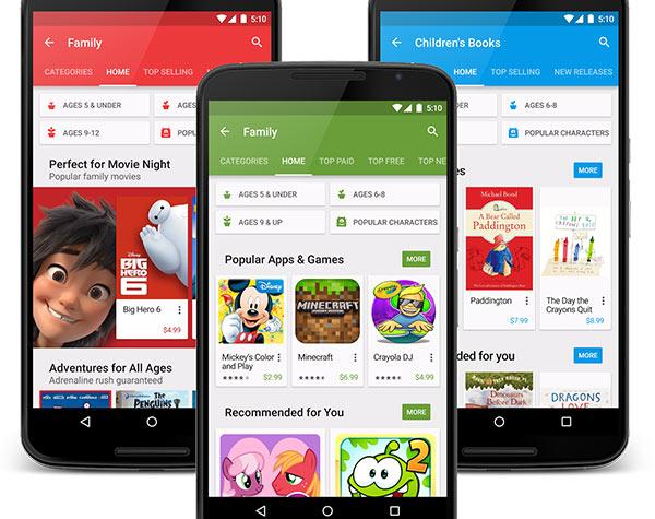 Google Play, lo store per la famiglia