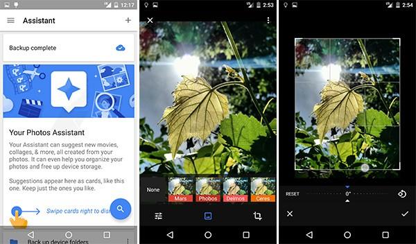 Funzionalità incluse nella nuova applicazione Google Foto