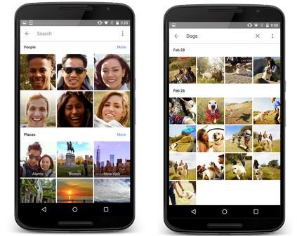 L'interfaccia della nuova applicazione Google Foto