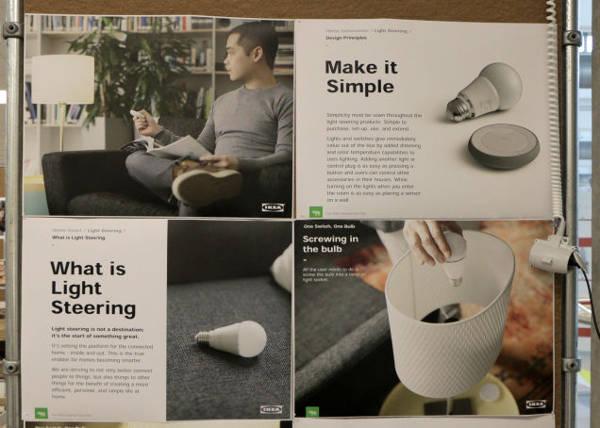 IKEA, sistema di illuminazione smart
