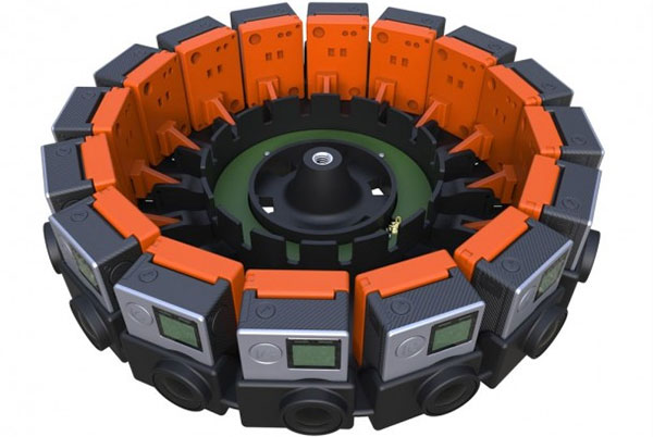 Prototipo di videocamera a 16 obiettivi basata sulla tecnologia JUMP di Google
