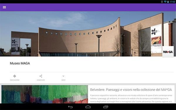 L'applicazione Android dedicata al Museo MAGA