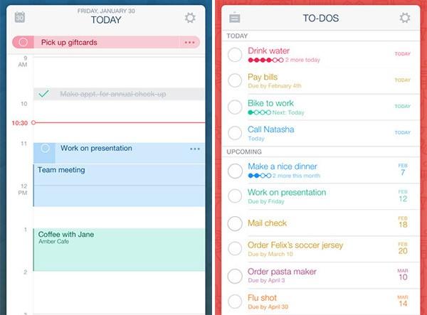 Screenshot per l'applicazione Timeful su iPhone