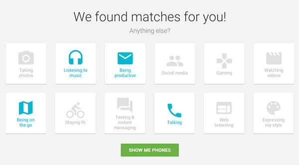 Android, Which One, il tool di Google per scegliere lo smartphone