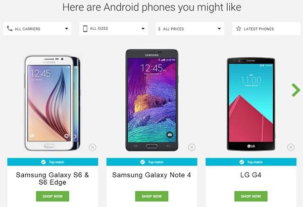Gli smartphone consigliati da Google al termine del test