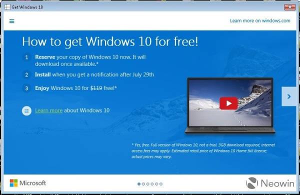 Windows 10, costi upgrade