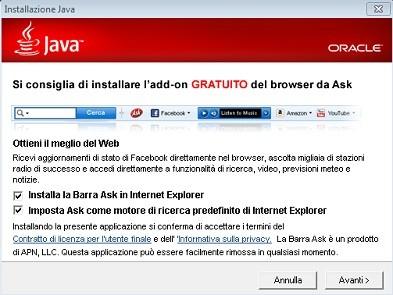 Ask Toolbar in Java