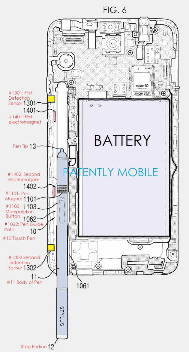 Auto-eject S Pen Galaxy Note 5